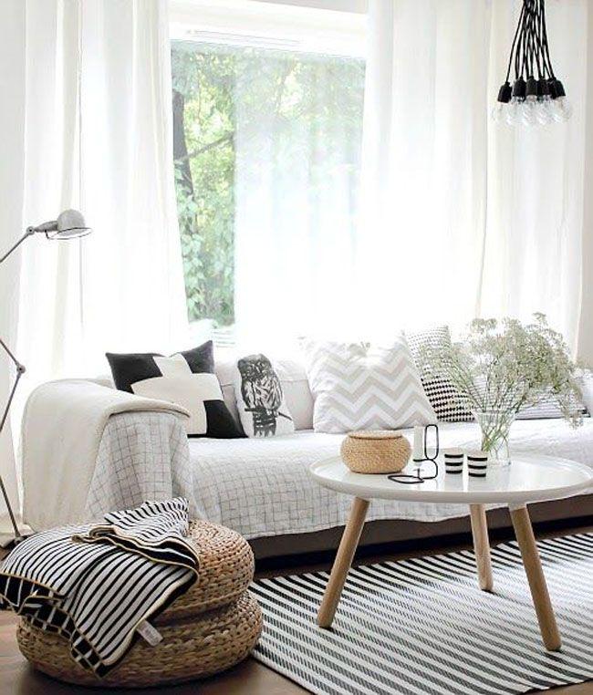 Colores neutros y blancos en las paredes