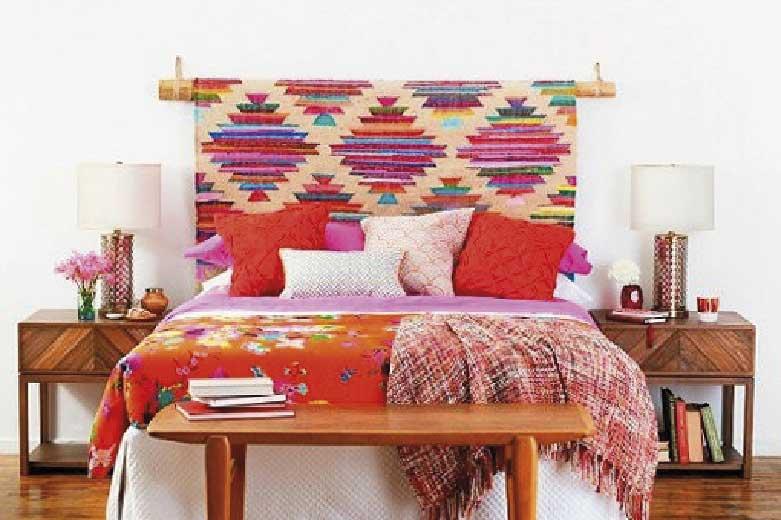 decoración con tapiz